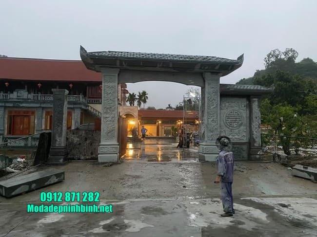 mẫu cổng tam quan đá tại Vĩnh Phúc