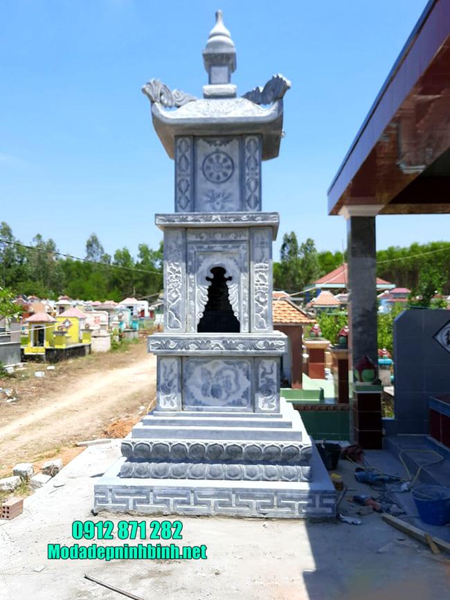 mẫu tháp mộ bằng đá đẹp để thờ hũ tro cốt tại Bình Phước