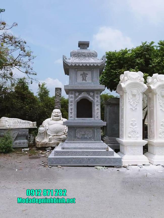 tháp mộ đẹp bằng đá để thờ hũ tro cốt tại Bình Phước
